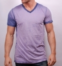 TARO BLUE MIXED V-NECK