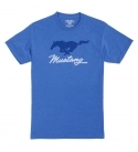 FORD MUSTANG PONY TEE-ROYAL/WHITE