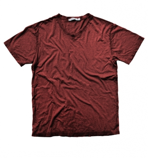 RED DEUCE V-NECK CRINKLE