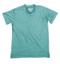 LIGHT AQUA V-NECK CRINKLE