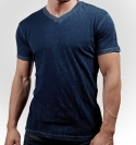 DARK NAVY V-NECK CRINKLE