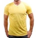 YELLOW V-NECK CRINKLE