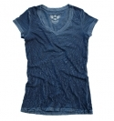 NAVY V-NECK CRINKLE