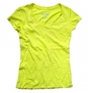 NEON YELLOW V-NECK CRINKLE
